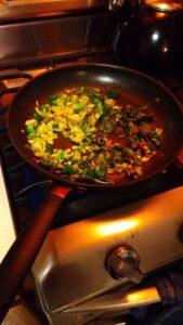 Frying the Leeks