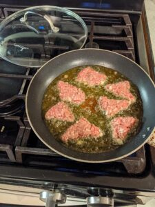 Frying Meat in Olive Oil